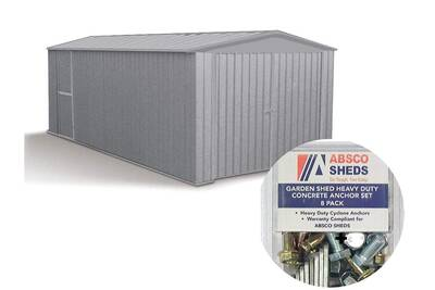 Garage En Metal Melton 13 44 M Kit D Ancrage