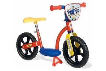 Porteur SMOBY Draisienne vélo sans pédales sam le pompier