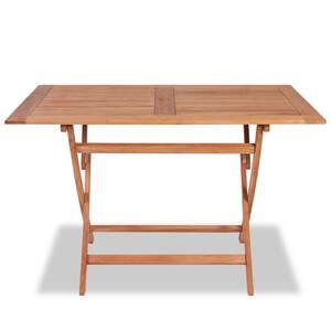 Icaverne - tables de jardin splendide table pliable de jardin 120x70x75 cm  bois de teck solide