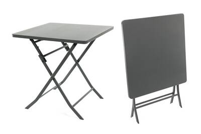 Table de jardin hespéride carrée greensboro 70 x 70 cm ardoise - hespéride