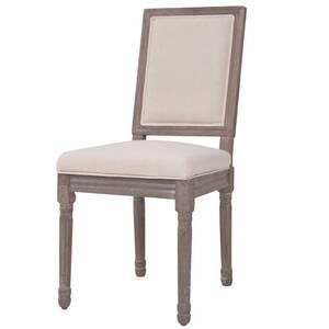 Icaverne - chaises de cuisine moderne chaise de salle à manger 6 pcs lin 47  x 58 x 98 cm blanc crème