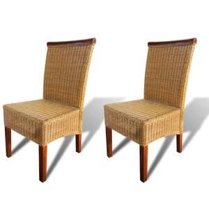 en à salle chaises salle manger Icaverne de de et manger superbe vidaxl chaises pièces rotin 2 cuisine marron à de EY2WIe9DH