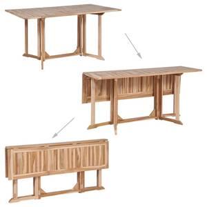 Icaverne - tables d\'extérieur superbe vidaxl table de salle à manger  pliante teck massif 150 x 90 x 75 cm