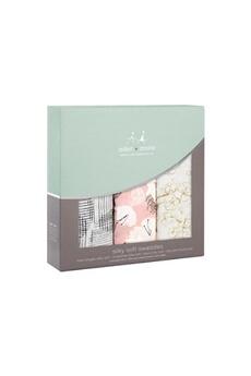 Coffret naissance Aden And Anais Pack de 3 maxi-langes silky soft - pretty petals