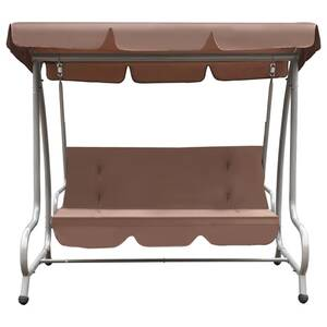 Icaverne - balancelles de jardin superbe vidaxl chaise oscillante  d\'extérieur avec baldaquin couleur café