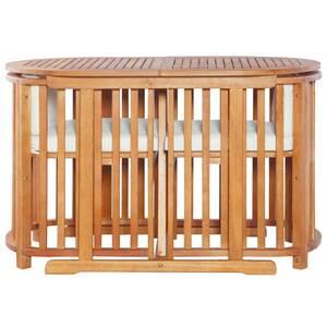 Icaverne - salons de jardin admirable meuble de bistro 3 pcs avec coussins  bois d\'eucalyptus solide