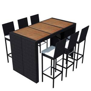 Icaverne - ensembles de meubles d\'extérieur superbe vidaxl mobilier de  jardin 13 pcs bois d\'acacia et résine tressée