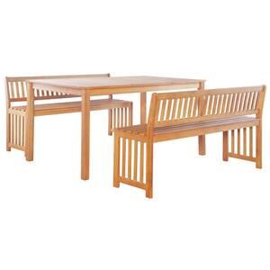 Icaverne - ensembles de meubles d\'extérieur superbe vidaxl mobilier de  jardin 6 pcs bois d\'eucalyptus massif