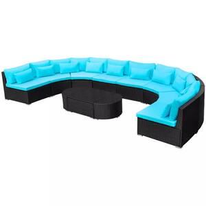 Icaverne - ensembles de meubles d\'extérieur superbe vidaxl mobilier de  jardin bleu tropical résine tressée
