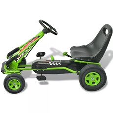 Véhicule à pédales GENERIQUE Icaverne - véhiciles à pédales et à traction chic kart à pédale avec siège ajustable vert