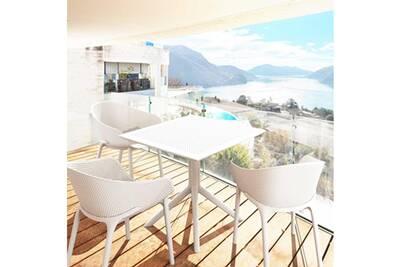 Salon de jardin Siesta Salon de jardin sky blanc 4 places en ...