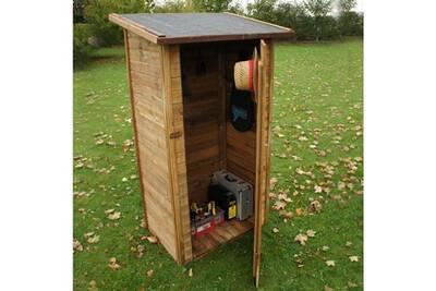 Coffre d\'exterieur - rangement d\'exterieur chalet et jardin armoire de  jardin en bois traité fsc
