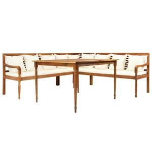 Meubles de jardin ensemble tallinn canapé d\'angle de jardin avec table et  coussins bois d\'acacia