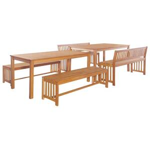 Meubles de jardin serie prague mobilier de jardin 6 pcs bois d\'eucalyptus  massif