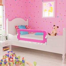 Barrière de lit Vidaxl Barrière de lit de sécurité pour tout-petits 2pcs rose 102x42cm