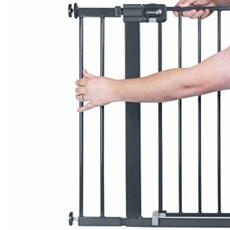 Barrière de sécurité bébé SAFETY 1ST Extension de porte de sécurité 14 cm noir métal 2429057000