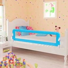 Barrière de lit Vidaxl Barrière de lit de sécurité pour tout-petits 2pcs bleu 150x42cm