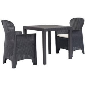 Ensemble table et chaise de jardin Vidaxl Ensemble de bistro 3 pcs ...