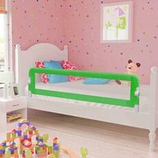 Barrière de lit Vidaxl Barrière de lit de sécurité pour tout-petits 2pcs vert 150x42cm