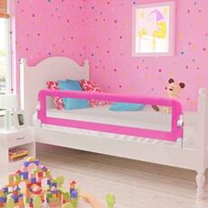 Barrière de lit Vidaxl Barrière de lit de sécurité pour tout-petits 2pcs rose 150x42cm