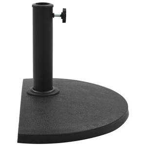 Demi Pied De Parasol.Icaverne Supports Pour Parasols Superbe Vidaxl Socle Demi Rond De Parasol Polyresine 9 Kg Noir