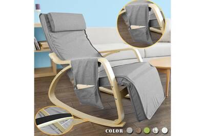 Rocking Chair Sobuy Sobuy Fst18 Dg Eponge Plus Epais Rocking Chair