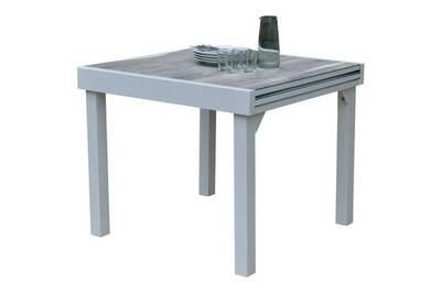 Table de jardin modulowood plateau déco bois blanc t4/8 modulable 4-8  personnes 600350