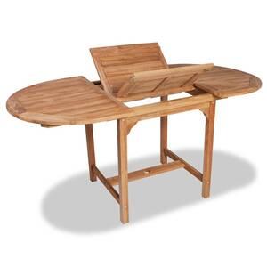 Ensemble table et chaise de jardin Vidaxl Table extensible à dîner ...