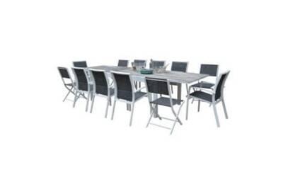 Ensemble table et chaise de jardin Wilsa Ensemble modulowood plateau ...