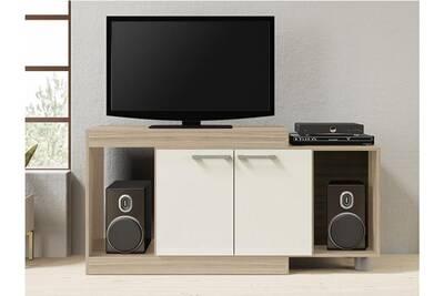 Meuble TV Vente-unique Meuble tv extensible thiago - 2 portes & ...