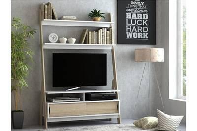 Meuble TV Vente-unique Meuble tv à étagères eskali - 2 portes ...
