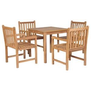 Meubles de jardin reference rabat ensemble de salle à manger d\'extérieur  5pcs bois solide de teck