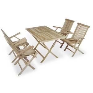 Mobilier de jardin reference jakarta mobilier à dîner d\'extérieur 5 pcs  bois de teck massif