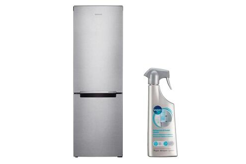 Réfrigérateur frigo combiné inox 311l a+ froid ventilé no frost multiflow r