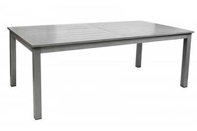 Table extensible en aluminium finition imitation bois - dim : 200/300 x 100  x 75 cm -pegane-