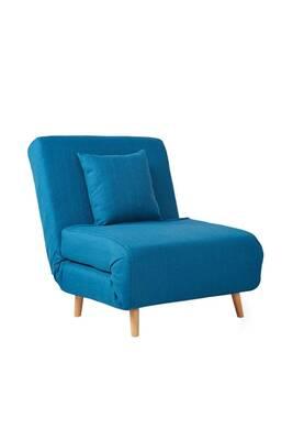 Adron Fauteuil Convertible Lit 1 Place Couleur Bleu