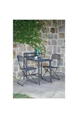 Table De Jardin 2 Personnes.Table De Balcon Avec Chaises Escale 2 Personnes Gris Anthracite