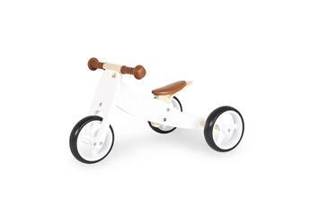 Draisienne Pinolino Tricycle en bois charlie blanc naturel