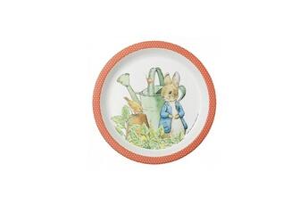 Vaisselle bébé PETIT JOUR Assiette bebe pierre lapin corail