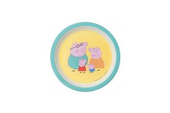 Vaisselle bébé PETIT JOUR Assiette bebe peppa pig avec les parents