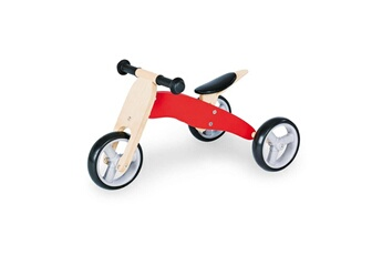 Draisienne Pinolino Tricycle en bois charlie rouge naturel