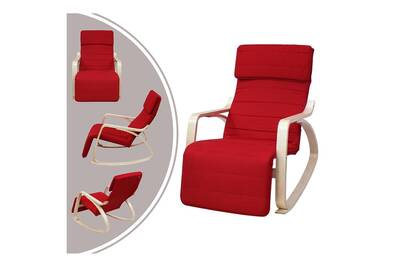 Rocking Chair Leogreen Rocking Chair Chaise A Bascule Rouge