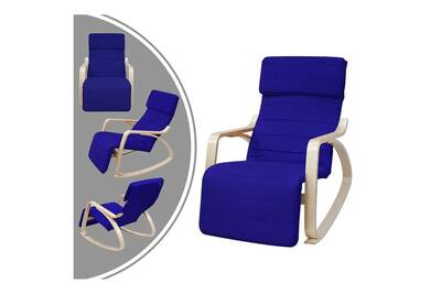 Rocking Chair Leogreen Rocking Chair Chaise A Bascule Bleu Avec