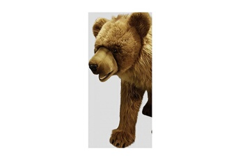 Peluches Hansa Peluches G?antes Hansa peluche geante ours brun 4 pattes 80 cm h et 135 cm l