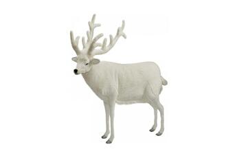 Peluches Hansa Peluches G?antes Hansa peluche geante renne blanc 150 cm h et 140 cm l