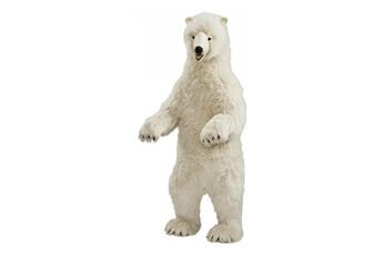 Peluches Hansa Peluches G?antes Hansa peluche geante ours polaire dresse 150 cm h et 65 cm l