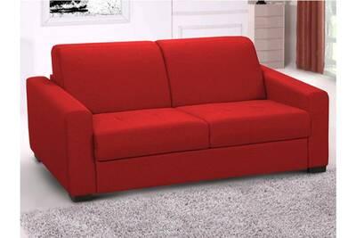 Matelas 14cm 3 Convertible Canapé Places Rouge Express Tissu En Amyr thxQdsrC