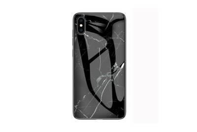 coque iphone xs max marbre noir