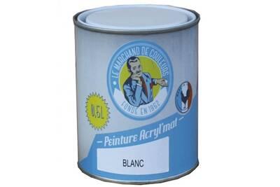 Peinture Acrylique Murs Et Plafonds Mat Blanc 0 5 L Onip