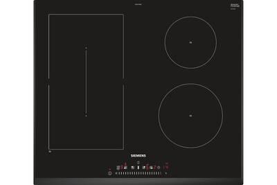 plaque induction siemens table de cuisson induction 60cm 4 foyers 6900w noir siemens